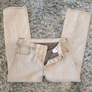 Levis 501 Button Fly Jeans Size 36 X 30